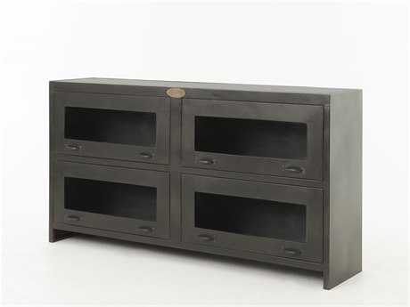 Four Hands Rockwell 64''L x 15''W Rectangular Antique Iron TV Stand