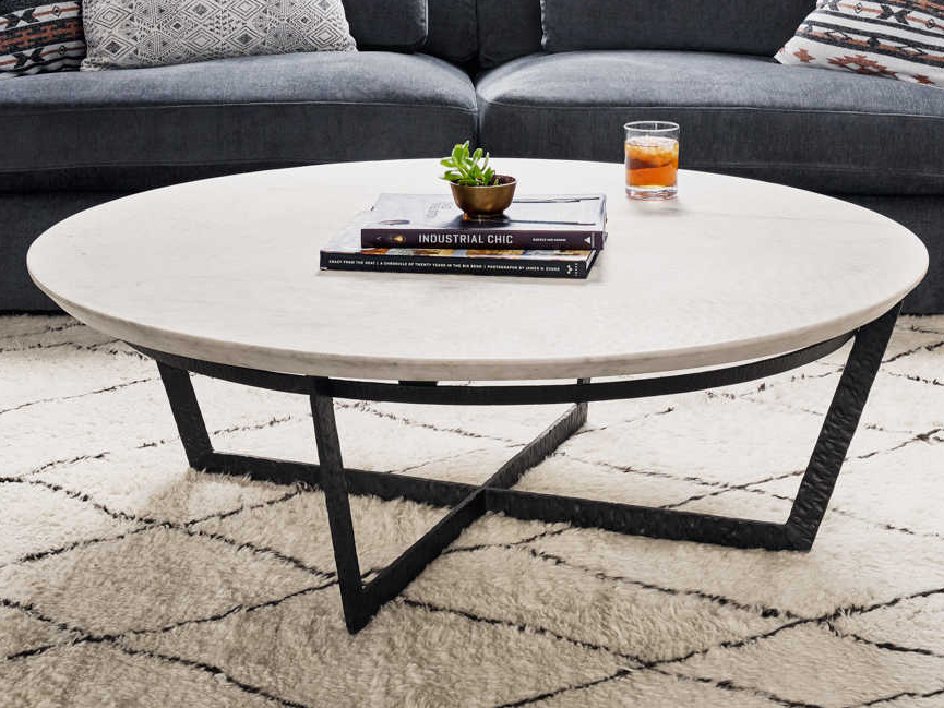 Round White Marble Coffee Table Barkeaterlake Com
