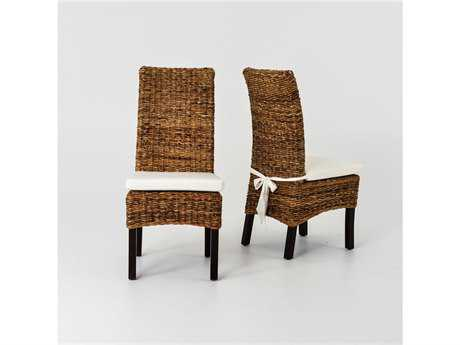 Four Hands Grass Roots Brown Banana Leaf Chair With Cushion