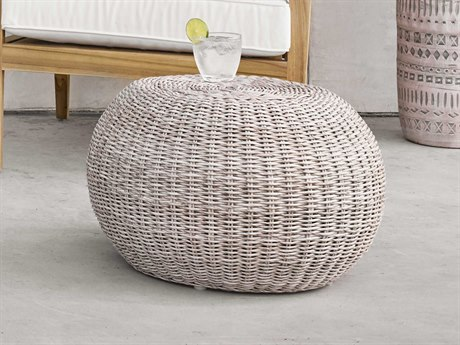 Four Hands Grass Roots Pure White / Vintage Accent Stool