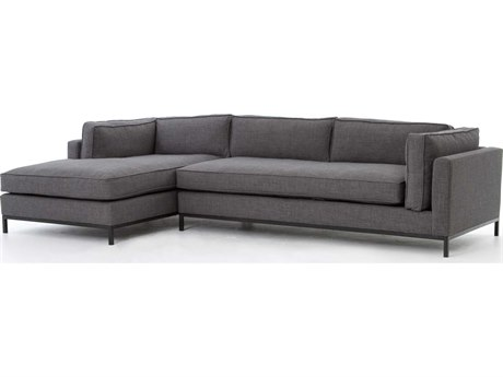 Four Hands Atelier Bennett Charcoal Grammercy Two-Piece Sectional Sofa with Left Arm Chaise FSUATR001BCH