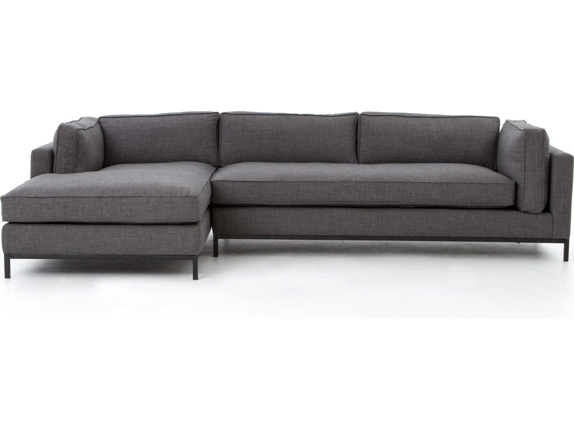 Four Hands Atelier Bennett Charcoal Grammercy Two Piece Sectional