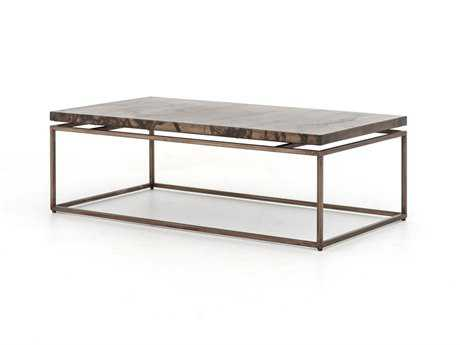 Four Hands Wesson 53 x 28 Rectangular Bronze Roman Coffee Table
