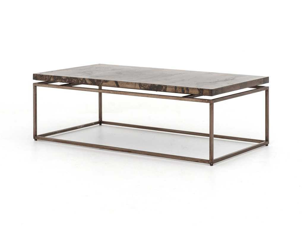 Four Hands Wesson 53 X 28 Rectangular Bronze Roman Coffee Table Fsuwes008