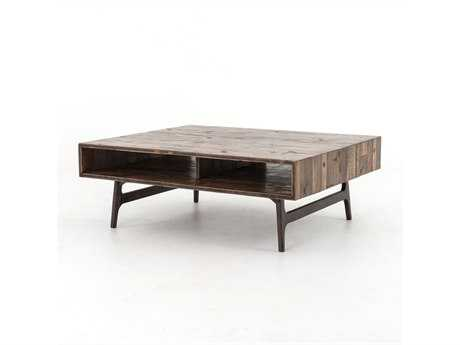 Four Hands Wesson 47 x 39 Rectangular Oak Nico Coffee Table
