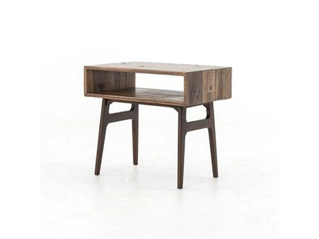 Four Hands Wesson 27 x 17 Rectangular Dark Roble & Warm Oak Nico Side Table