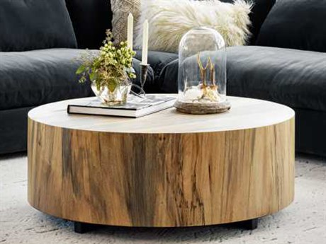 Four Hands Wesson Spalted Primavera 40'' Round Hudson Coffee Table