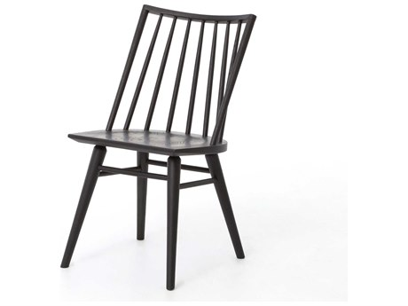 Four Hands Belfast Black Oak Lewis Windsor Side Dining Chair