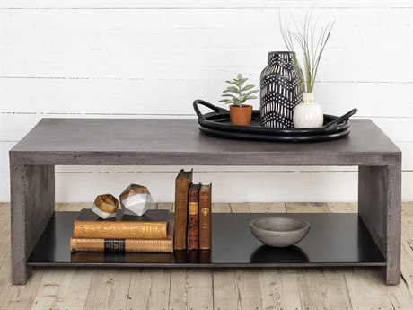Four Hands Everett Dark Grey 46 x 15.75 Rectangular Hugo Coffee Table