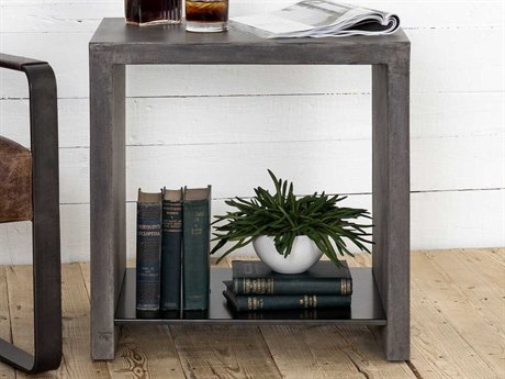 Four Hands Everett Hugo Polished Concrete End Table