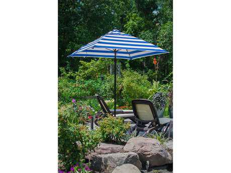 Frankford Monterey Fiberglass Market 6.5 Foot Wide Square Pulley Lift Umbrella