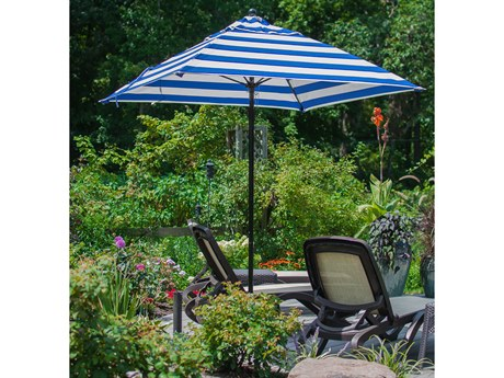 Frankford Monterey Market Fiberglass 6.5' Square Pulley Lift Umbrella