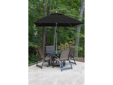 Frankford Monterey Fiberglass Market 7.5 Foot Wide Square Pulley Lift Umbrella