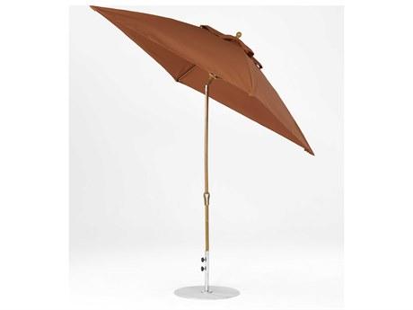 Frankford Monterey Market Fiberglass 7.5 Foot Wide Square Crank Auto Tilt Umbrella
