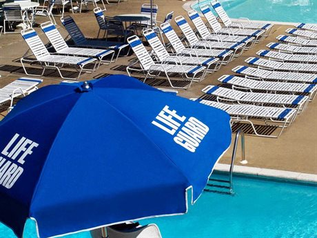 Frankford Lifeguard Steel 6.5 Foot Wide Hexagon Manual Umbrella
