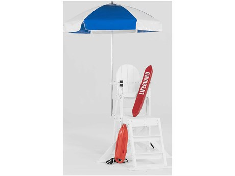 Frankford Lifeguard Aluminum 6.5 Foot Wide Hexagon Aluminum Manual Tilt Umbrella PatioLiving