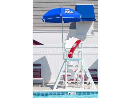 Frankford Lifeguard Fiberglass  6.5 Foot Wide Hexagon Manual Umbrella