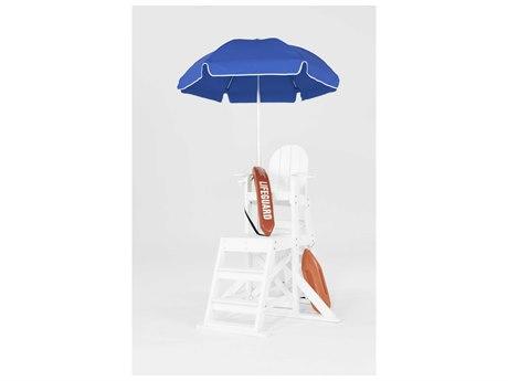 Frankford Umbrellas Lifeguard Aluminum 6.5 Manual Lift Umbrella
