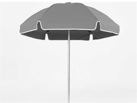 Frankford Avalon Fiberglass Beach 6.5 Foot Wide Octagon Manual Lift Umbrella