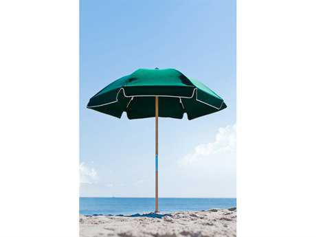 Frankford Avalon Fiberglass Beach 6.5 Foot Wide Hexagon Manual Lift Umbrella