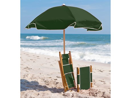 Frankford Emerald Beach Ash wood 6.5 Foot Wide Hexagon Manual Lift Umbrella