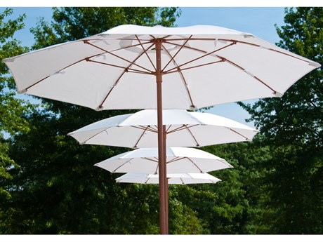 Frankford Catalina Fiberglass 7.5 Foot Wide Octagon Manual Lift Umbrella PatioLiving