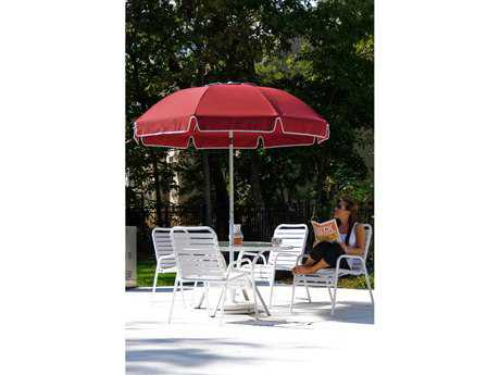 Frankford Catalina Fiberglass Patio 7.5 Foot Wide Octagon Crank / Tilt Umbrella
