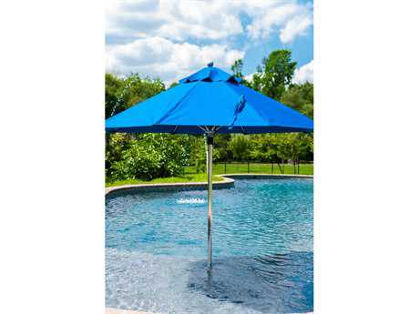 Frankford Monterey Fiberglass Market 7.5 Foot Wide Octagon Pulley Lift Umbrella
