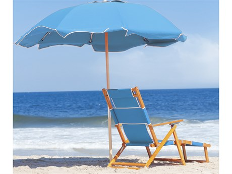Frankford Avalon Fiberglass Beach 7.5 Foot Wide Octagon Manual Lift Umbrella