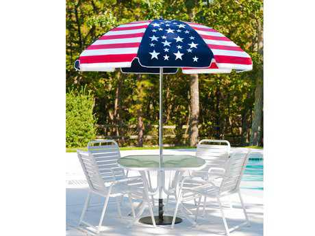 Frankford Laurel Steel Patio 7.5 Foot Wide Octagon Nanual Umbrella