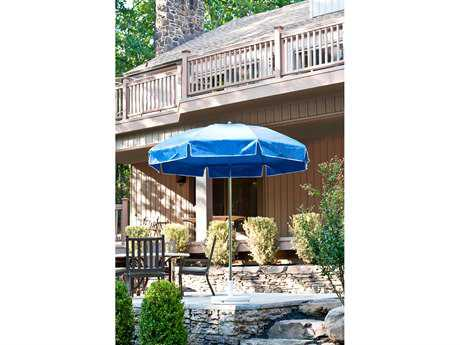 Frankford Laurel Steel Patio 7.5 Foot Wide Octagon Crank / Tilt Umbrella
