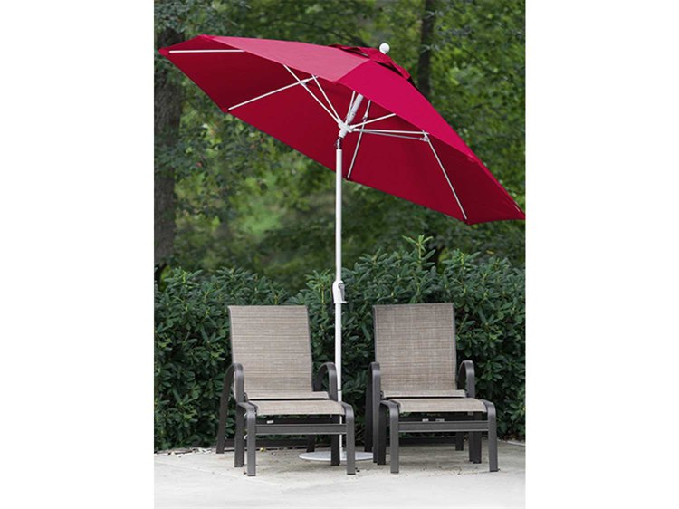 Frankford Monterey Fiberglass Market 7.5 Foot Wide Octagon Crank Auto Tilt Umbrella PatioLiving