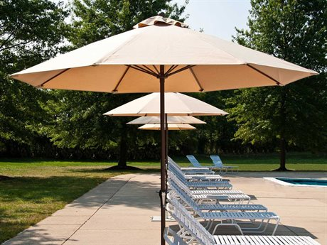 Frankford Monterey Fiberglass Market 7.5 Foot Wide Octagon Crank No Tilt Umbrella