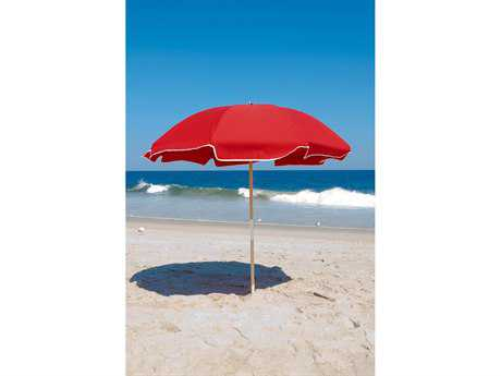 Frankford Emerald Steel Beach 7.5 Foot Wide Octagon Manual / Point Umbrella in SR FU845W