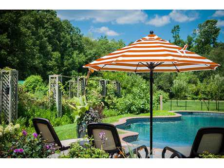 Frankford Monterey Fiberglass Market 9 Foot Wide Octagon Pulley Lift Umbrella