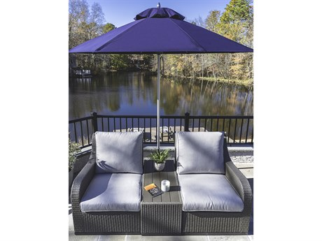 Frankford Monterey Market Fiberglass 9 Foot Wide Octagon Pulley Lift Umbrella PatioLiving
