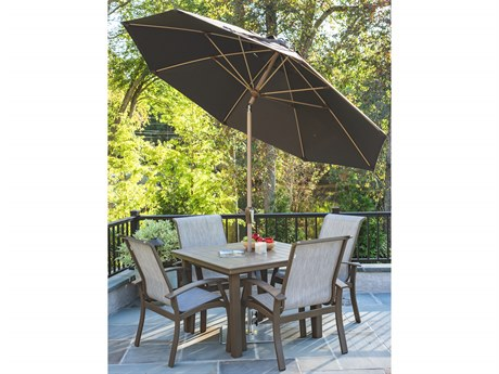 Frankford Monterey Market Fiberglass 9 Foot Wide Octagon Crank Auto Tilt Umbrella PatioLiving