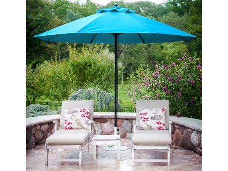 Frankford Monterey Market Fiberglass 11 Foot Wide Octagon Pulley Lift Umbrella PatioLiving