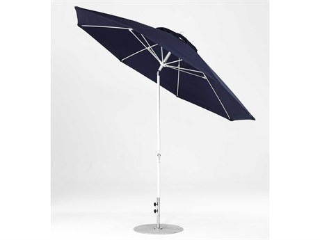 Frankford Monterey Market Fiberglass 11 Foot Wide Octagon Crank Auto Tilt Umbrella PatioLiving