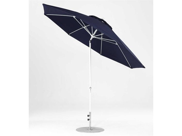 Frankford Monterey Market Fiberglass 11 Foot Wide Octagon Crank Auto Tilt Umbrella PatioLiving