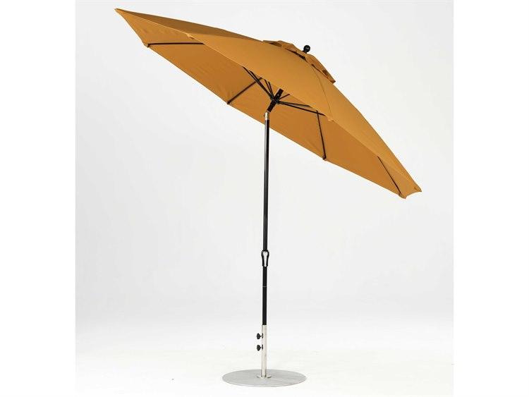 Frankford Monterey Fiberglass Market 11 Foot Wide Octagon Crank Auto Tilt Umbrella PatioLiving