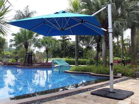 Frankford Aurora Premium Cantilever 9 Foot Wide Square Crank Lift Umbrella