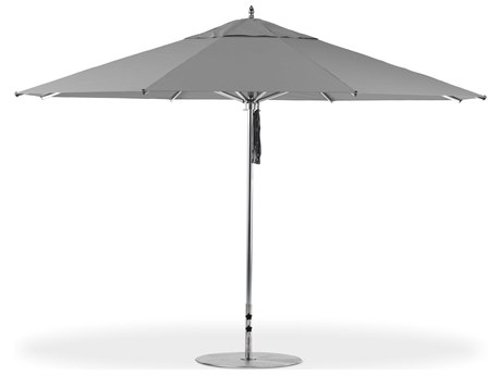 Frankford G-Series Greenwich Market Aluminum Silver Anodized 13 Foot Octagon Double Pulley Lift Umbrella