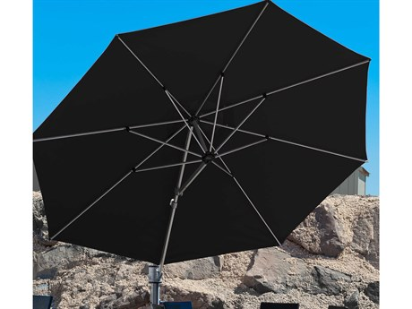 Frankford Eclipse Commercial Cantilever 13 Foot Wide Octagon Crank Lift Umbrella PatioLiving