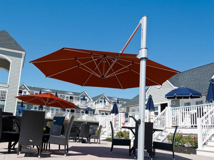 Frankford Eclipse Commercial Cantilever 13 Foot Wide Octagon Crank Lift  Umbrella
