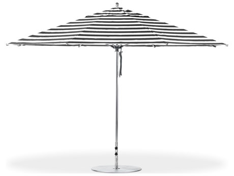Frankford G-Series Monterey Market Aluminum Silver Anodized 13 Foot Octagon Double Pulley Lift Umbrella