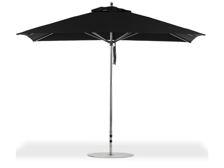 Frankford G-Series Monterey Market Aluminum Silver Anodized 11'' x 8.5'' Rectangular Double Pulley Lift Umbrella