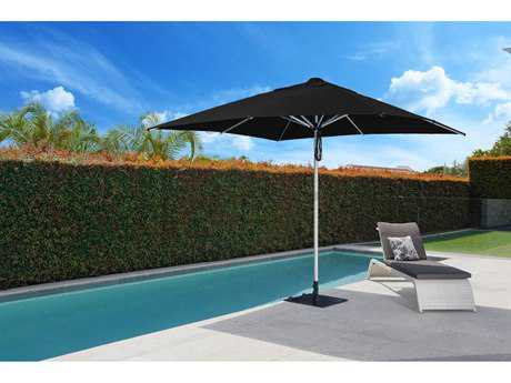 Frankford  Monaco Premium Center 10 Foot Wide Square Double Pulley Lift Umbrella