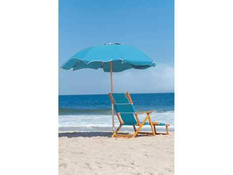 Frankford Umbrellas Oak Wood Beach Chair Lounge Set