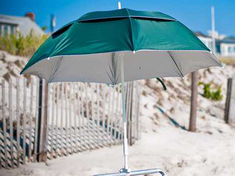 Frankford Beach Lifeguard Fiberglass 3.6' Foot Wide Octagon Manual / Clamp Attachment Umbrella